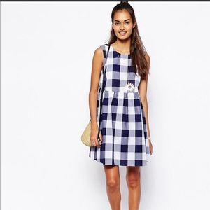 ASOS Gingham print smock dress sz 6
